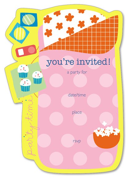 free printable slumber party invitation templates