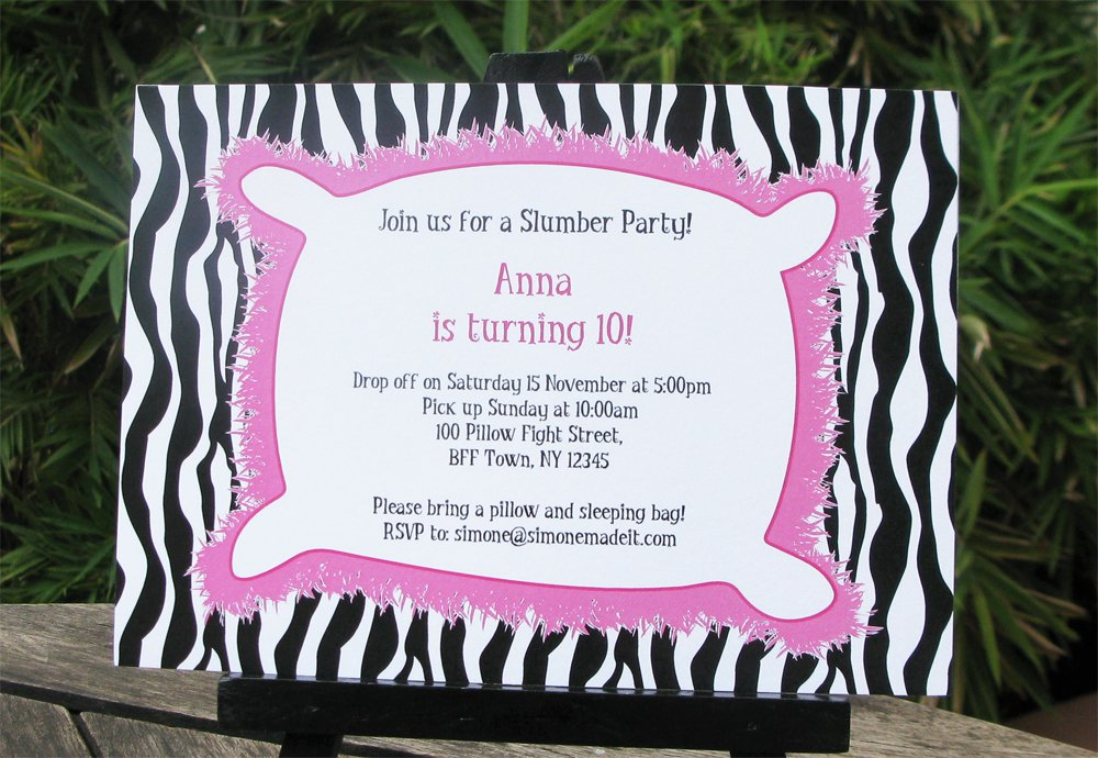 Printable Slumber Party Invitation Templates – Free Printable Slumber Party Invitation Templates