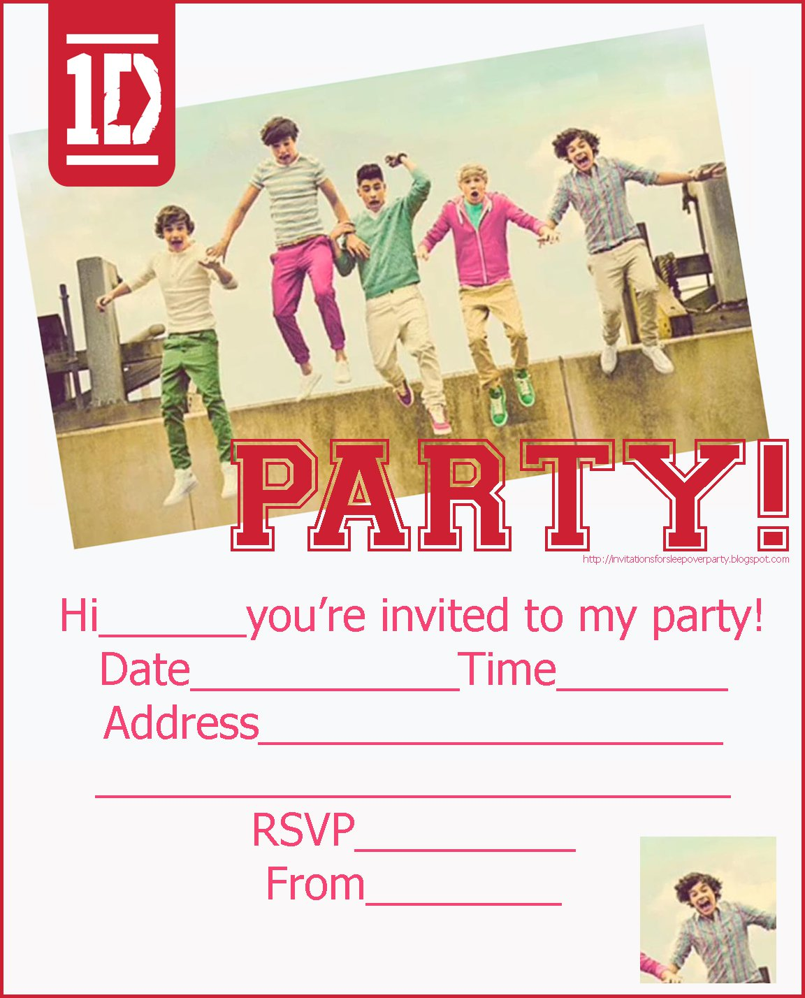 Free Printable Slumber Party Invitations Girls 2015
