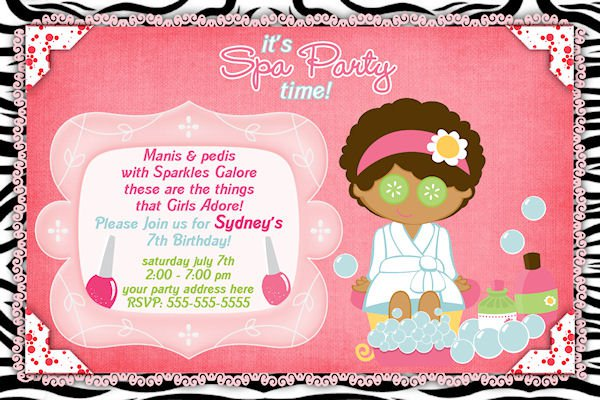 Free Printable Slumber Party Invitations Girls 2016