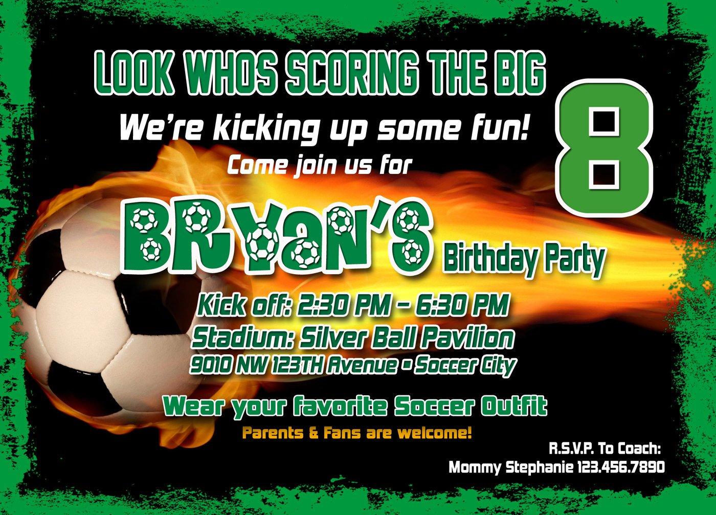 Free Printable Soccer Birthday Invitation Cards