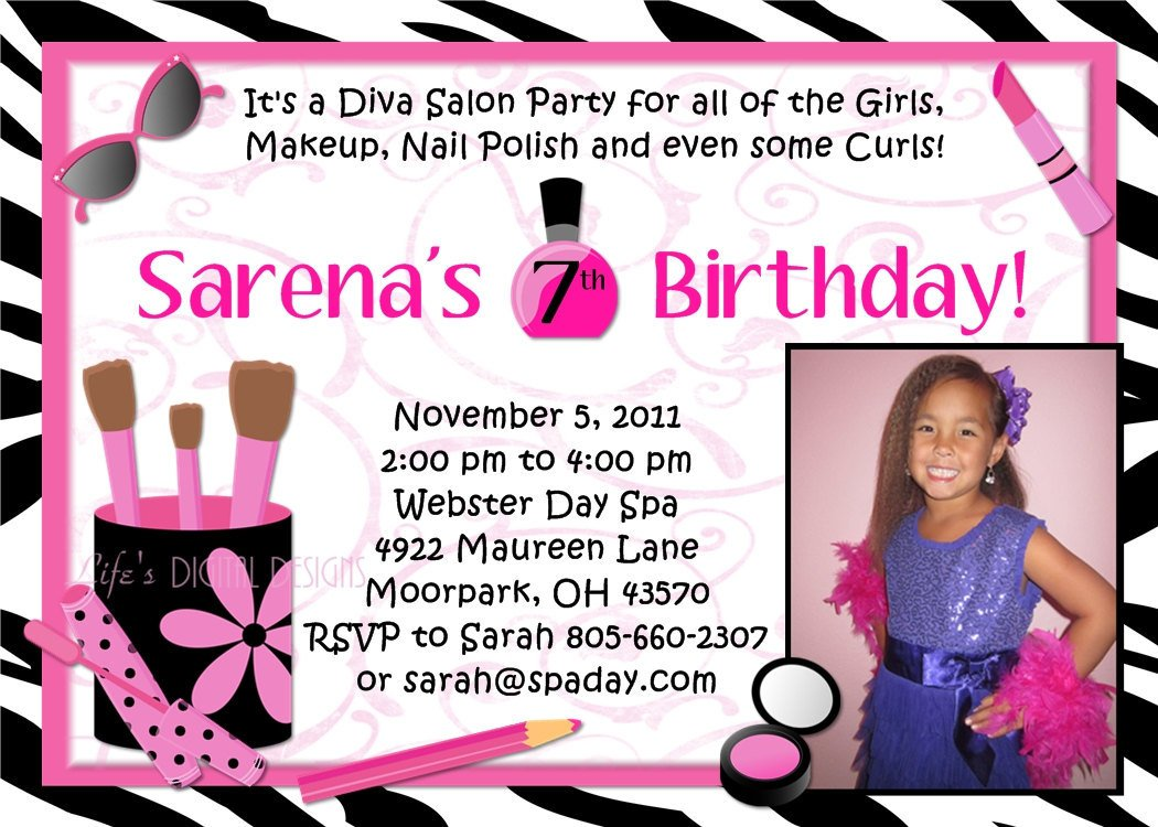 Free Printable Spa Party Invitations For Girls