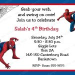 Free Printable Spiderman Birthday Invitation Cards