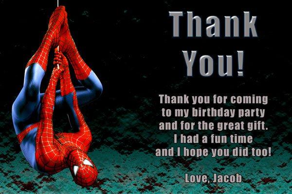Free Printable Spiderman Invitation Card 2016