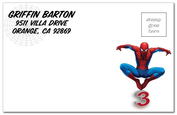 Free Printable Spiderman Invitation Card 2018