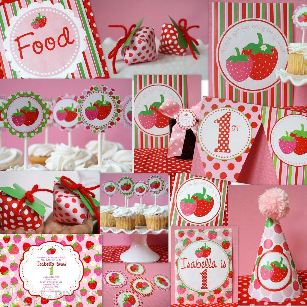 Free Printable Strawberry Shortcake Birthday Invitations 2015