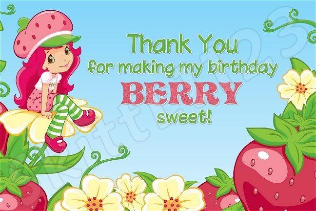 Free Printable Strawberry Shortcake Birthday Invitations 2017
