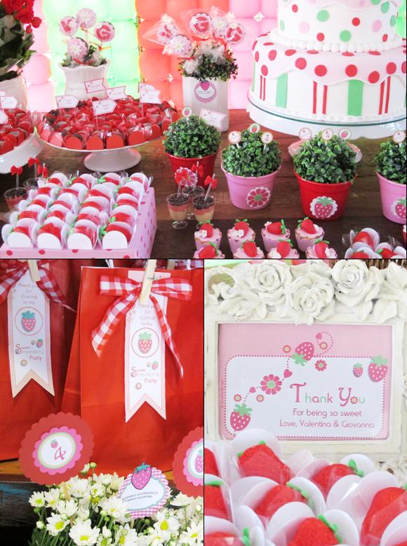 Free Printable Strawberry Shortcake Birthday Invitations