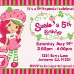 Free Printable Strawberry Shortcake Invitations