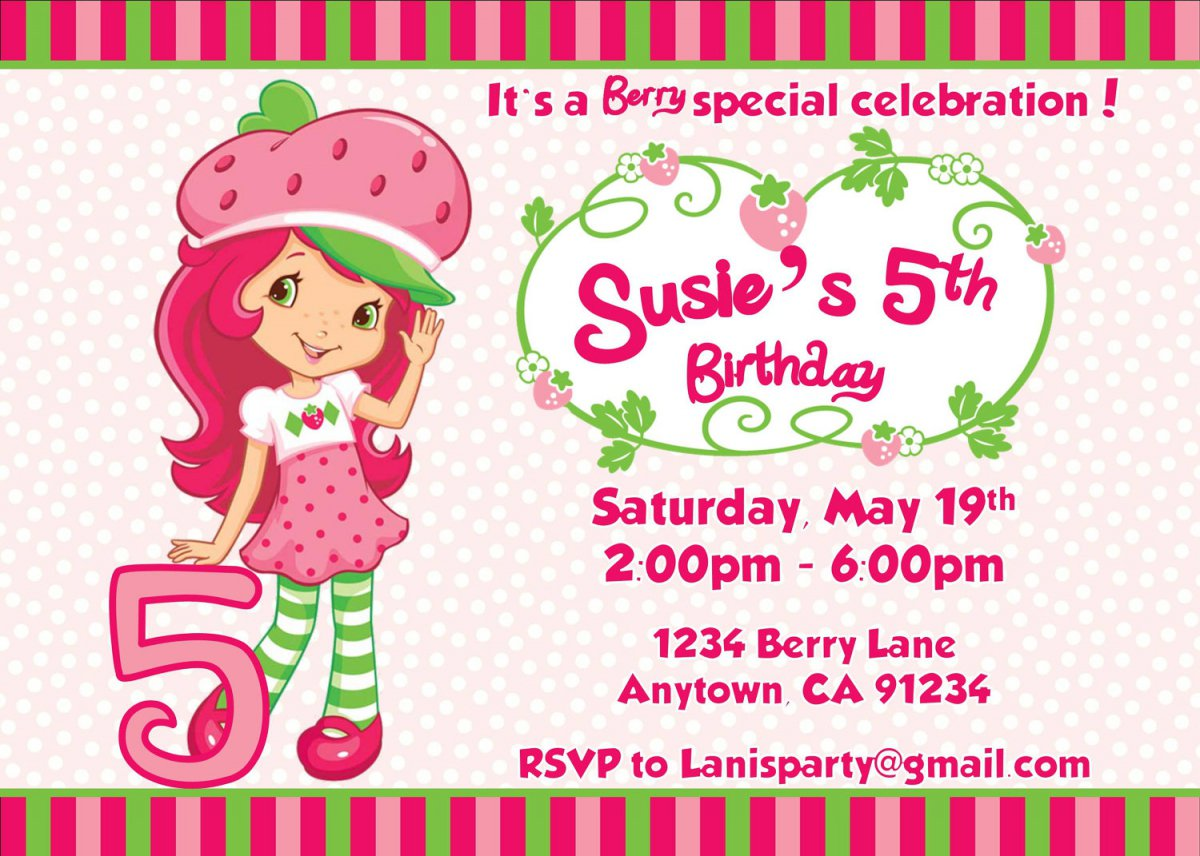 Free Printable Strawberry Shortcake Invitations