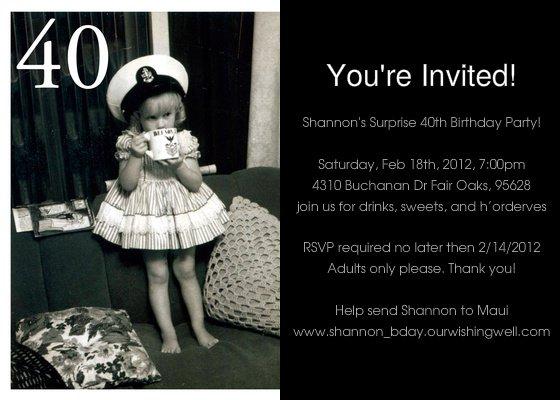 Free Printable Surprise 40th Birthday Invitations 2017