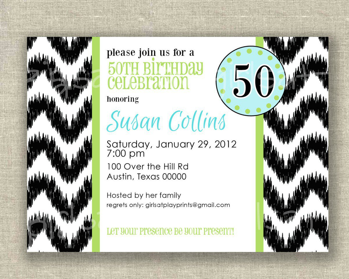 Free Printable Surprise 50th Birthday Invitations 2015