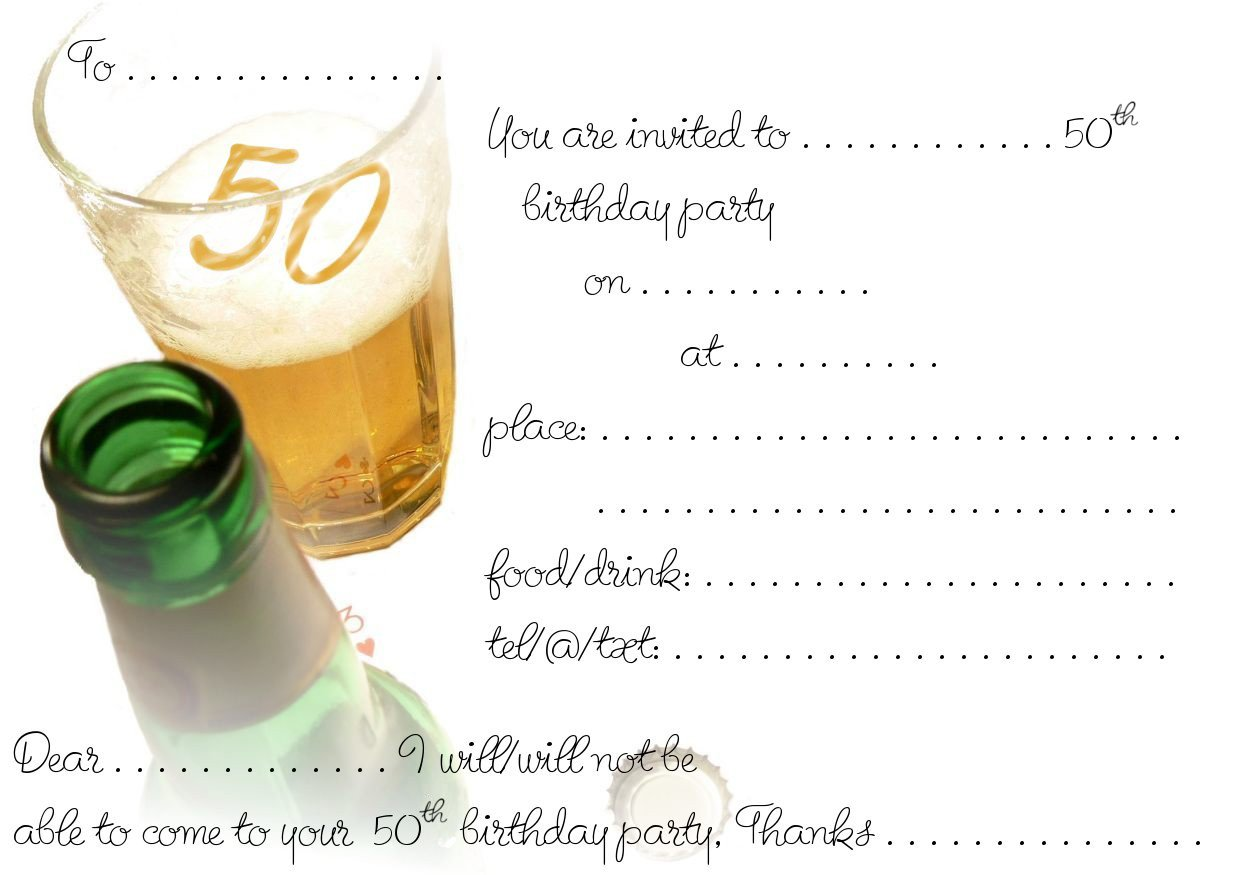 Free Printable Surprise 50th Birthday Party Invitations