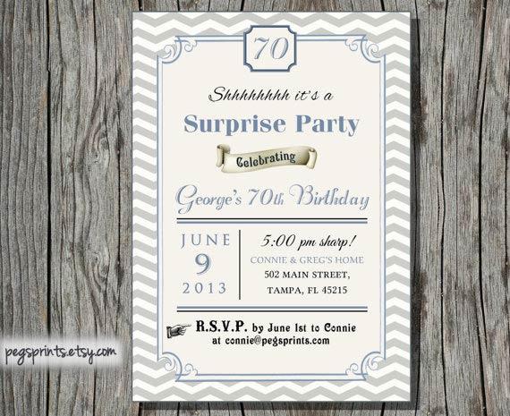 Free Printable Surprise 60th Birthday Invitations 2018