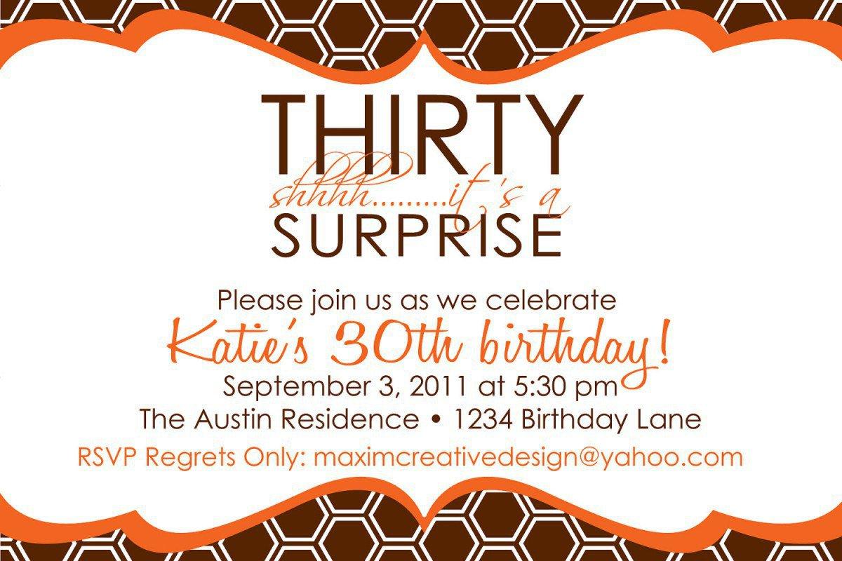 Free Printable Surprise Birthday Invitation Cards 2017