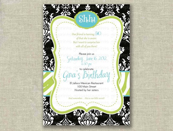 Free Printable Surprise Birthday Party Invitations 2018