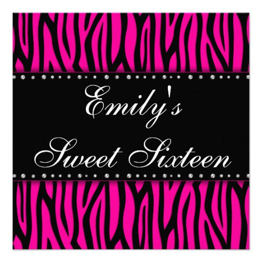 Free Printable Sweet 16 Invitation Cards 2017
