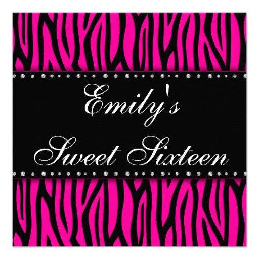 Free Printable Sweet 16 Invitation Cards 2017