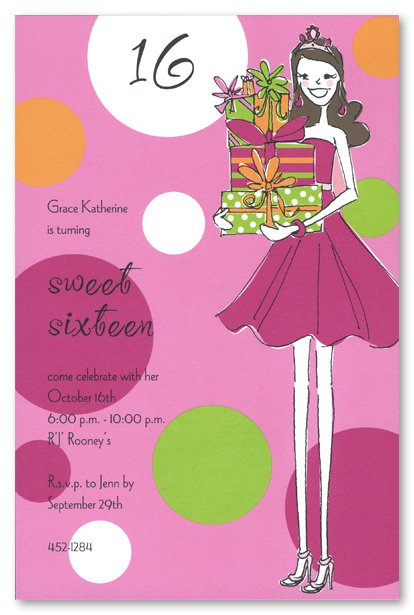 Free Printable Sweet 16 Invitation Templates – Sweet Sixteen Birthday Greetings