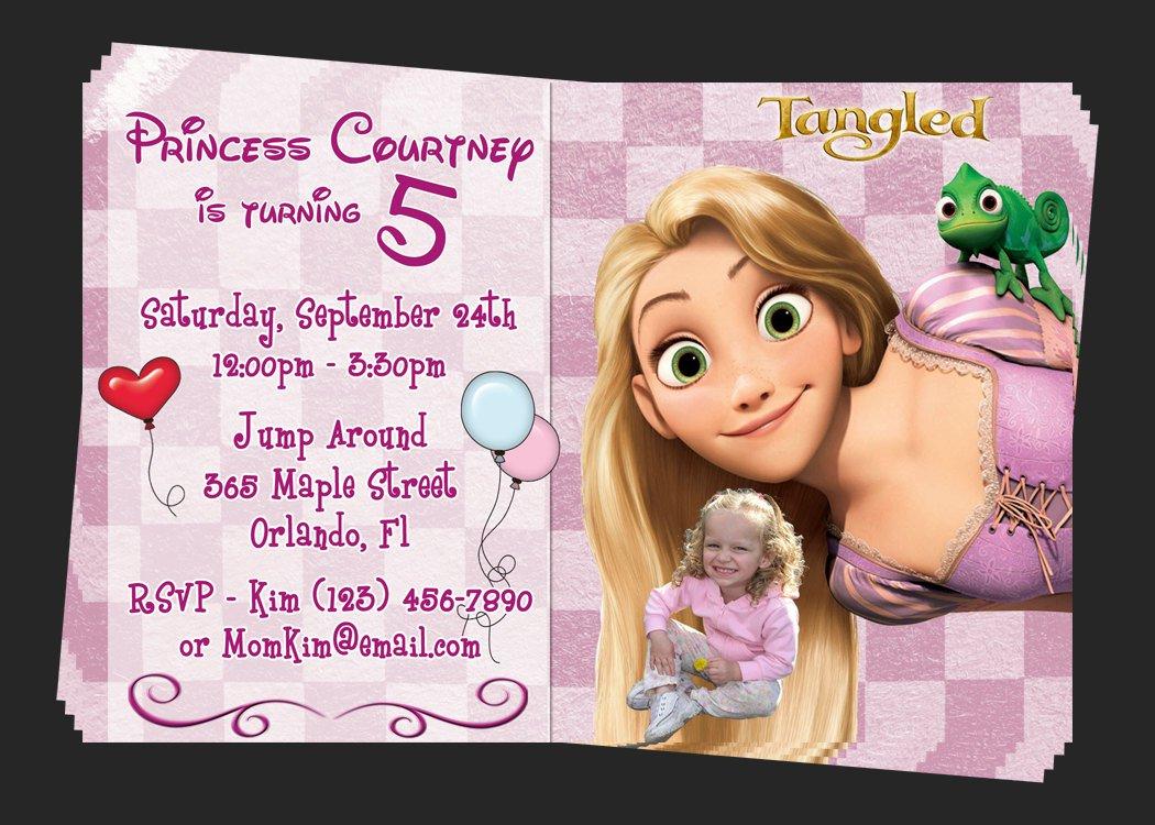 Free Printable Tangled Birthday Party Invitations