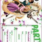 Free Printable Tangled Birthday Party Invitations