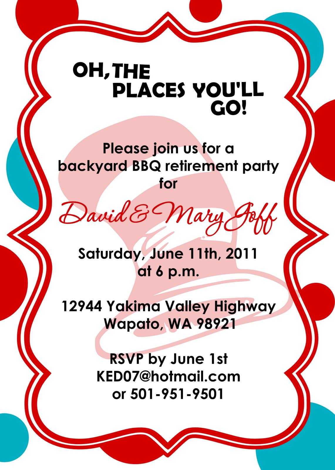 Free Printable Teacher Retirement Party Invitations