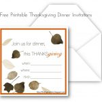 Free Printable Thanksgiving Dinner Invitation Templates
