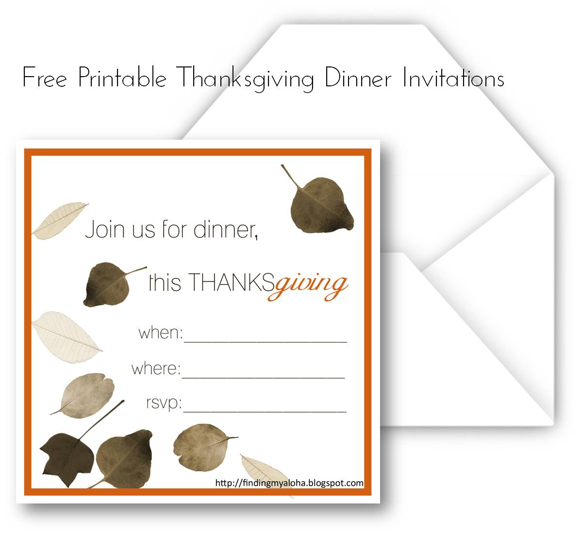 free thanksgiving templates - free printable thanksgiving dinner invitations