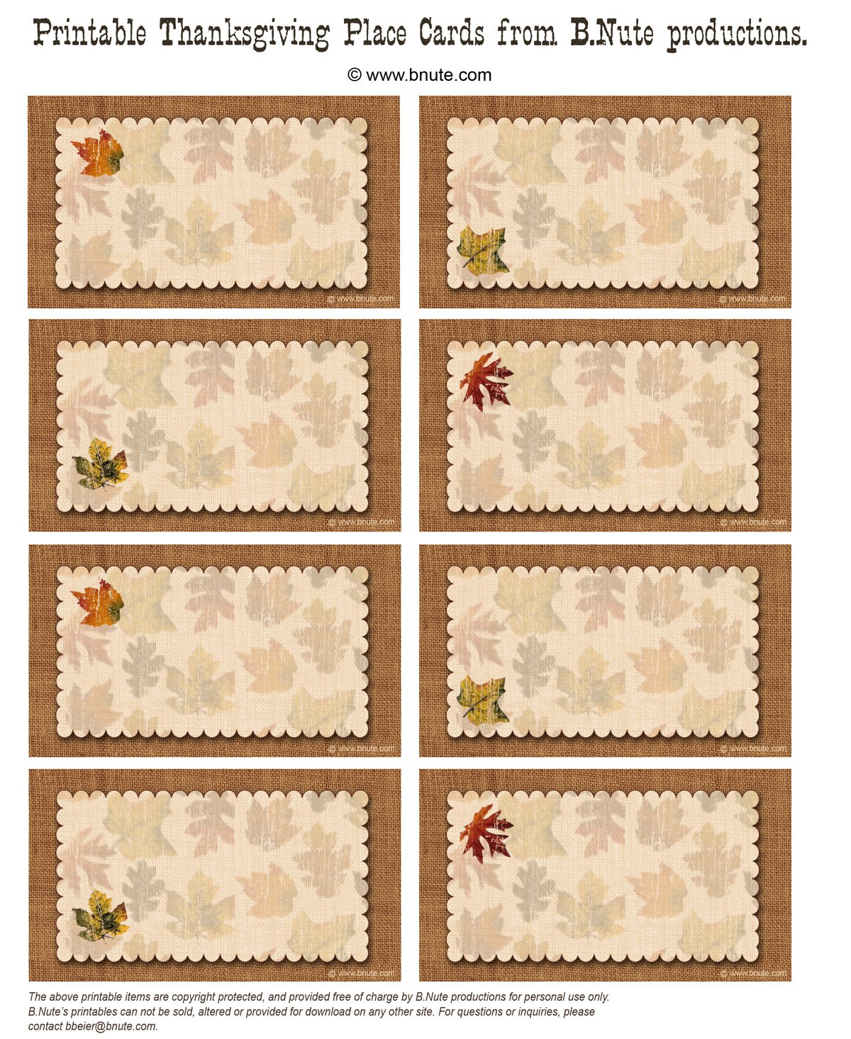 Free Printable Thanksgiving Invitation Cards