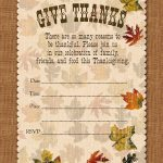 Free Printable Thanksgiving Invitations Cards