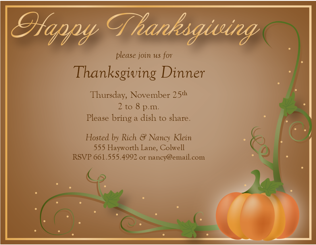 Thanksgiving invitations templates free northurthwall stopboris Gallery