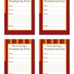 Free Printable Thanksgiving Party Invitations