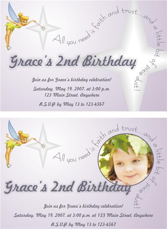 Free Printable Tinkerbell Birthday Invitations 2015