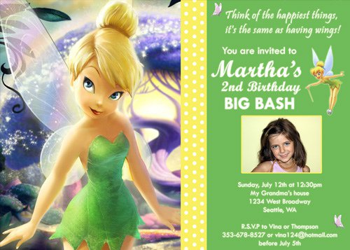 Free Printable Tinkerbell Invitations For Birthday 2016