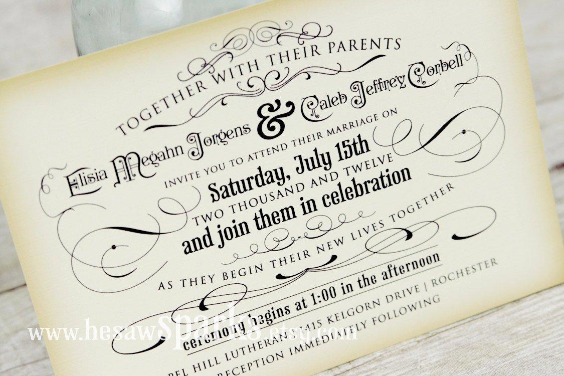 Free Printable Vintage Wedding Invitation Templates 2017