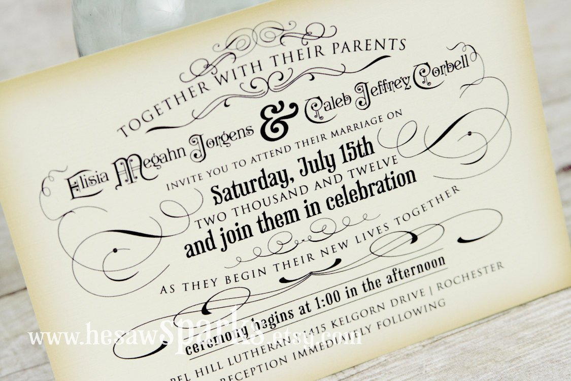 Email Wedding Invitations Free Templates: Free Printable Vintage Wedding Invitation Templates