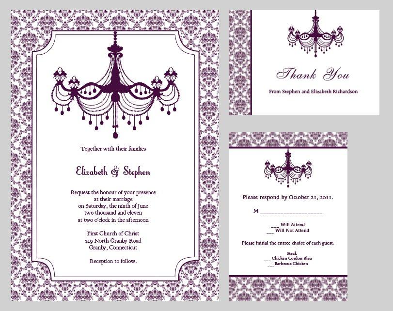 Free Printable Vintage Wedding Invitation Templates 2018