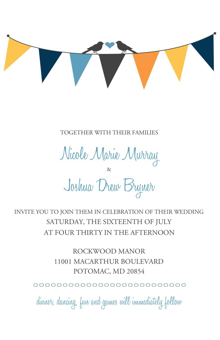 Free Printable Wedding Invitation Templates 2015