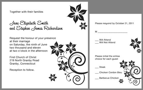 Free Printable Wedding Invitations Templates Downloads 2016