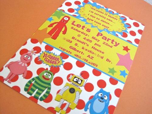 Free Printable Yo Gabba Gabba Birthday Party Invitations 2015