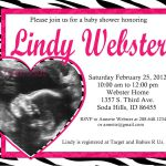 Free Printable Zebra Baby Shower Invitations