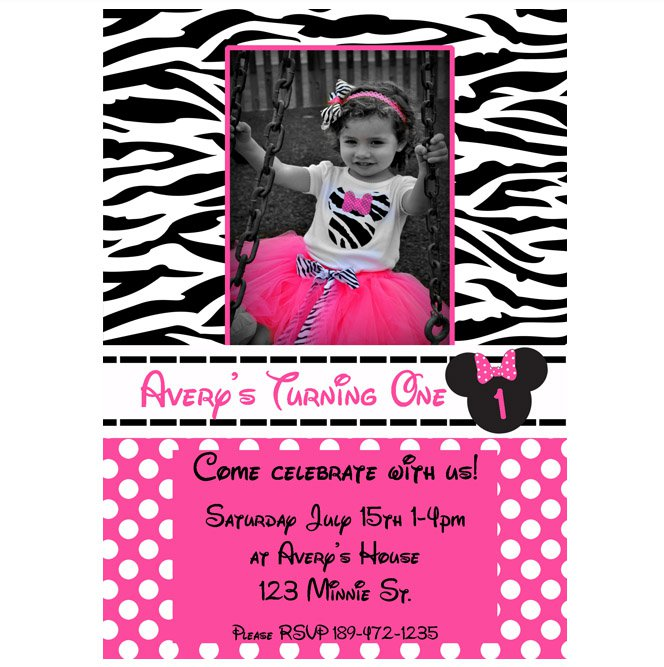 Free Printable Zebra Birthday Invitation Templates 2017