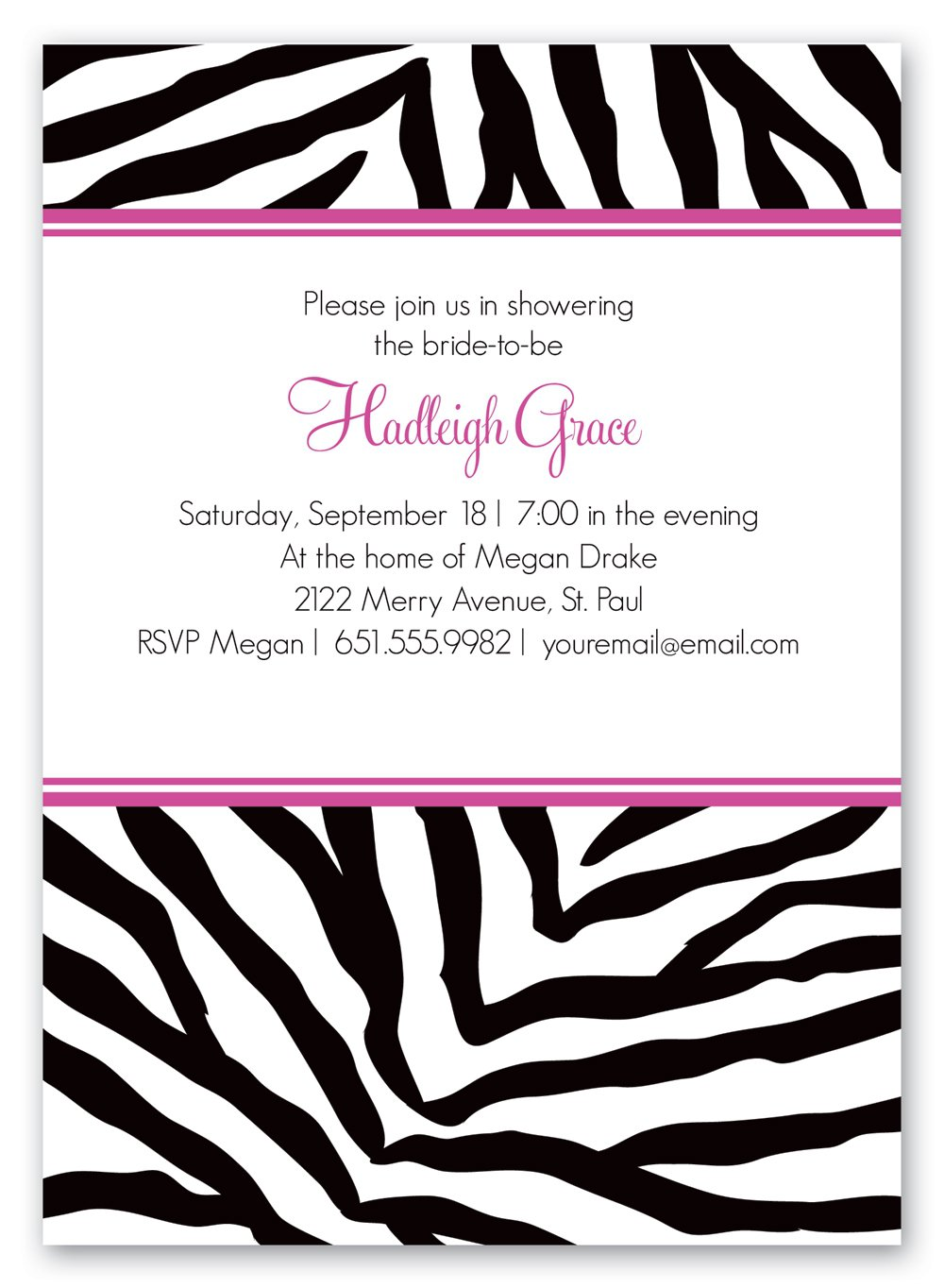 Printable zebra invitation patterns for Leopard print invitations templates