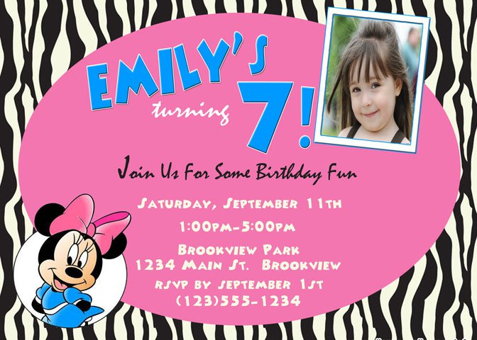 Free Printable Zebra Invitations For Birthdays 2016