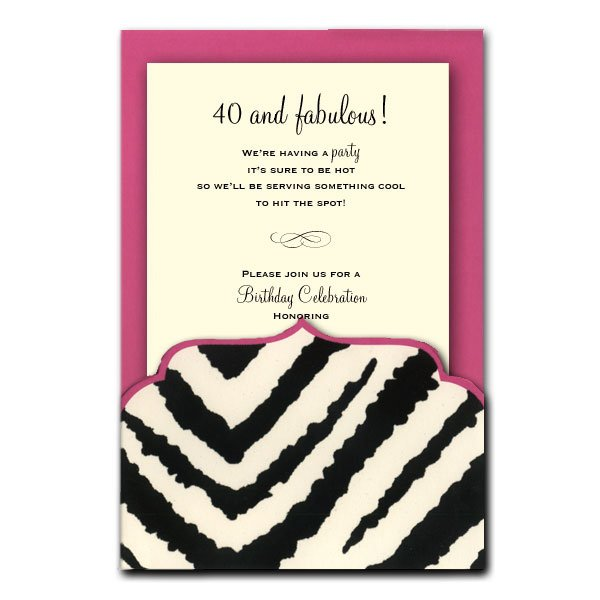 printable zebra print birthday party invitations, Birthday invitations