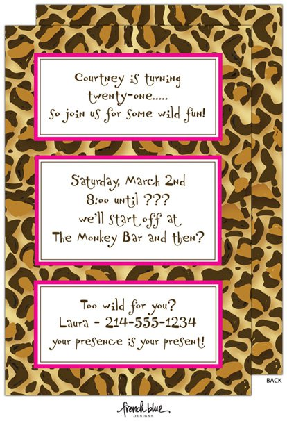 Free Printable Zebra Stripe Party Invitations 2017