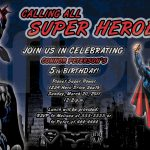 Free Spiderman Birthday Party Invitations Printable