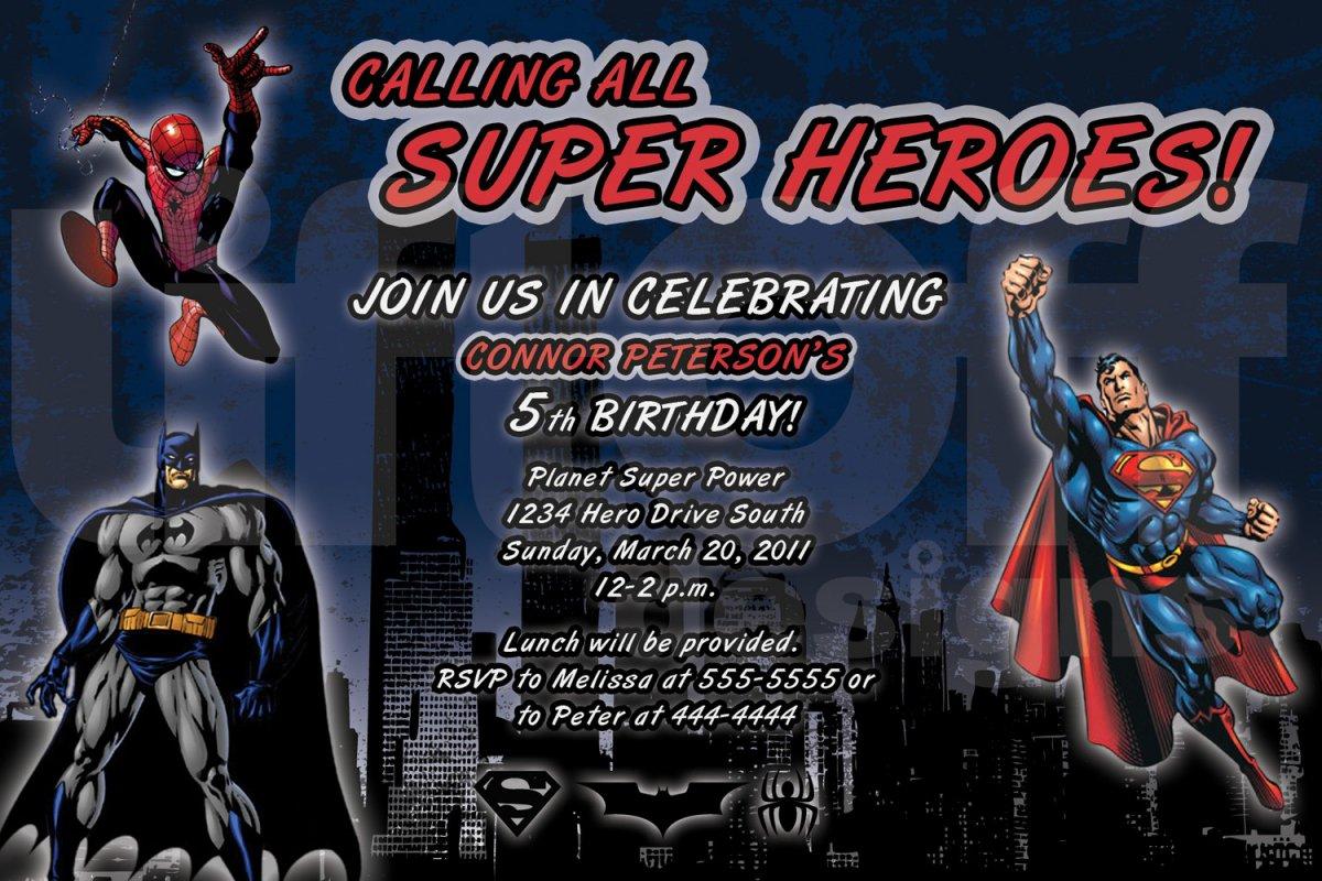 Free Spiderman Birthday Party Invitations Printable