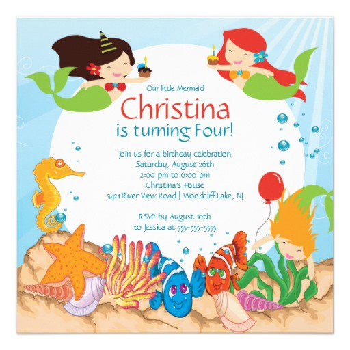 Free Swim Party Invitations For Kids 2015