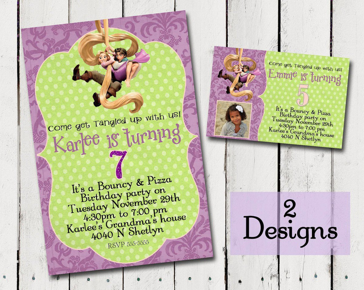 Free Tangled Printable Birthday Invitations 2016